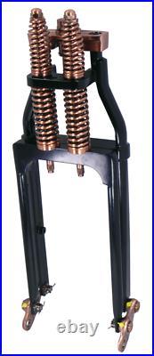 2 Over 24 Black Copper Brass Springer Front End Harley Bobber Chopper Softail