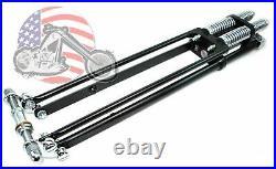20 2 Under Stock DNA Black Narrow Springer Front End Kit Harley Chopper Bobber