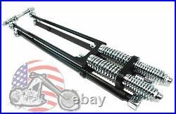 22 DNA Stock Black Narrow Glide Springer Front End Kit Harley Chopper Bobber