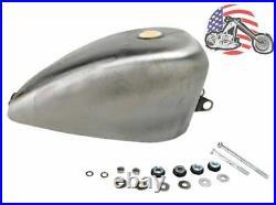 3 Gallon 2 Wider King Fuel Gas Tank 1995-2003 Harley Sportster Bobber Chopper