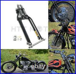 4 Under 18 Black Springer Front End For Harley Bobber Chopper Softail Dyna