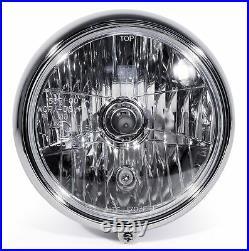 7 Scheinwerfer Klar Schwarz Chrom für Harley Davidson Fat Boy Heritage Softail