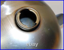 Alien Egg Wasp Gas Tank 2.2g Dual Cap Steel Harley Triumph Xs650 Bobber Chopper