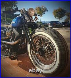 Antique Vintage Springer Forks for Harley Bobber Chopper Black Big Port 20