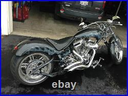 Big Radius Chrome Exhaust Pipes Right Side Drive Harley Chopper Bobber Custom