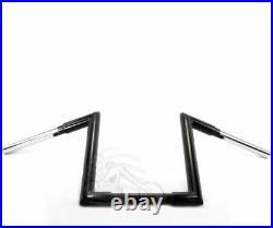 Black 12 1-1/4 Z Style Bars Ape Hanger Handlebars Harley Chopper Bobber FXD XL