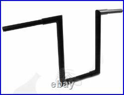 Black 16 1-1/4 Z Bars Handlebars Ape Hangers Harley Bobber Chopper Custom Dyna