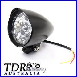 Black Billet Headlight For Harley Davidson Sportster XL Dyna Chopper Bobber 4.5