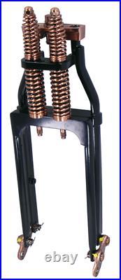 Black Copper 24 Springer Front Fork Suspension For Harley Chopper Bobber 35233