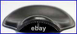 Black Leather White Stitch Custom Harley Wcc Chopper Bobber Solo Seat Xs 650 Cb