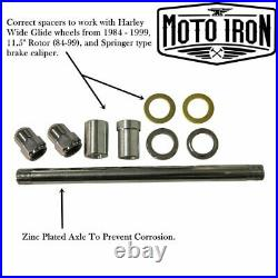 Black Springer Front End +4 Length Harley Davidson Shovelhead Bobber Chopper dna
