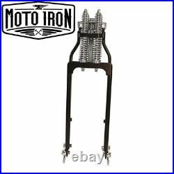 Black Springer Front End +6 Length Harley Davidson Shovelhead Bobber Chopper dna