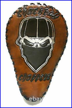 Bobber Chopper Rigid Solo Custom Leather Motorcycle Seat Harley Hand Tooled