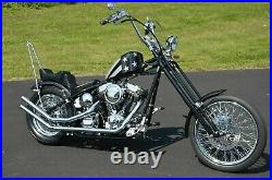 Chrome 33 Round Sissy Bar Harley Chopper Bobber Rigid 6 Flat Fender 50-0851