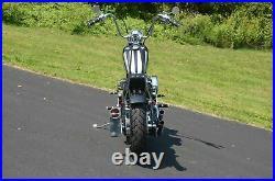 Chrome Round 33 Tall Sissy Bar Harley Chopper Bobber Rigid 6 Rear Flat Fender