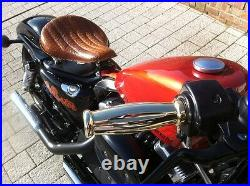 Coke Bottle Solid Cast Brass 1 Grips 1973 & Up Harley Bobber Chopper Bagger
