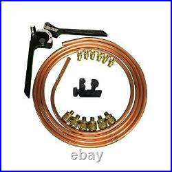Copper Hard Oil Line Kit For Harley Davidson Motorcycles, Choppers And Bobbers