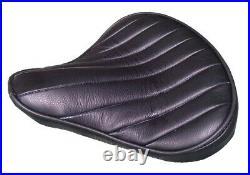 Custom Bates Leather Tuck n Roll Large Black Solo Seat Harley Bobber Chopper