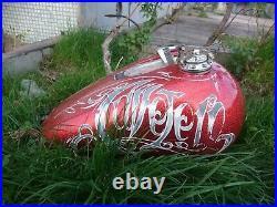 Custom HandMade Speedster Al Gas tank cap cover Harley Davidson Bobber Chopper