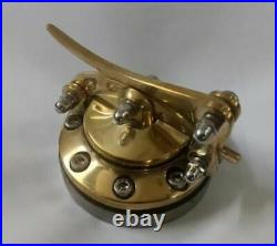 Custom gas fuel petrol tank cap lid brass cast Harley Bobber Chopper Hot Rat Rod