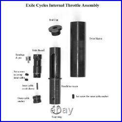Exile Small Internal Twist Throttle With Hidden Cable Harley Choppers Bobbers