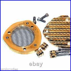 Finned Brass Velocity Stack Bird Deflector S&s E, G Carb Harley Bobber Chopper
