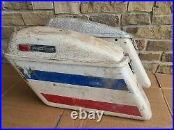 Harley Bobber Panhead Chopper Shovelhead Saddlebags Oem