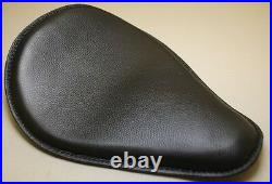 Harley Chopper Bobber Leather Motorcycle Seat Sporty Blk RICH PHILLIPS LEATHER