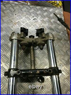 Harley-davidson Twin Disc Narrow Glide Front Forks Complete For Restoration