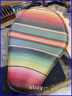 Mexican Blanket Motorcycle Seat Sportster Harley Chopper Bobber Rich Phillips