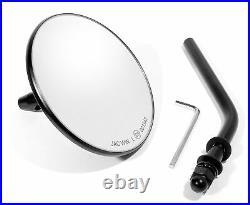 Mini Spiegel schwarz für Harley Davidson Chopper Bobber Custom Mirror black