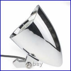 New Silver Billet Headlight Harley Davidson XL Dyna Chopper Bobber Sportster