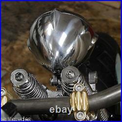 Old School Finned Solid Brass 4.5 Riser Risers 1harley Bobber Chopper Springer