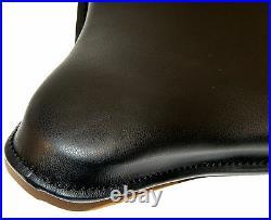 Old School K-model Leather Black Solo Seat Harley Oem 52000-40 Bt Bobber Chopper