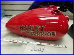 Old School Mustang Gas Tank Chopper Bobber W decals Harley Ironhead Sportster fx