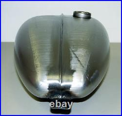 Ribbed Axed Low Tunnel Peanut Gas Tank 3.3g Steel Harley Xs650 Bobber Chopper