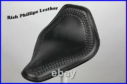 Rich Phillips Leather Hand Tooled Leather Harley Chopper Seat Sportster Bobber 1
