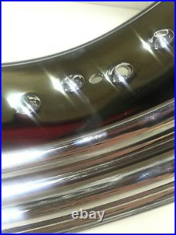 Show Chrome 18x5.75 40 Spoke Wheel Steel Rim Harley Chopper Bobber Wide Tire NEW