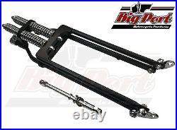 Springer Forks Harley Bobber Chopper Plus +6 Inch Length Black Big Port Classic