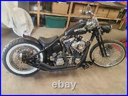 Springer Forks Harley Bobber Chopper Under 4 Inch Black Big Port -4 Short