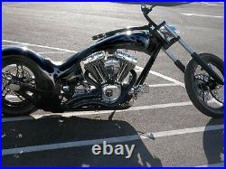 Stealth Black Exhaust Pipes Right Side Drive Rsd Harley Chopper Bobber Custom