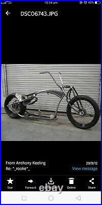 Tinworksinc Harley/Chopper/Bobber Single Shock Front End Girder USA Made