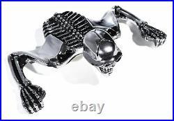Totenkopf Ornament Skull Skelett für 7 Scheinwerfer Harley Suzuki Honda Chopper