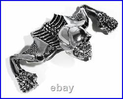 Totenkopf Ornament Skull Skelett für Scheinwerfer Harley Suzuki Honda Chopper