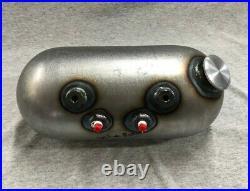 USA MADE Round Pill Style Side Fill Custom Oil Tank For Harley Chopper Bobber
