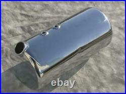 Ultima Chrome Round Oil Tank Side Fill Universal Harley Chopper Bobber Custom