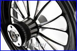 Ultima Manhattan Black Billet Aluminum 18 5.5 Rear Wheel Harley Chopper Bobber